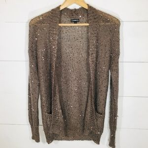 EXPRESS Mohair Bld Sequin Cardigan Sweater SMALL